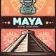 Vintage Colored Ancient Maya Poster