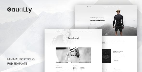 Gaually: Multipurpose Creative Portfolio & Blog PSD Template