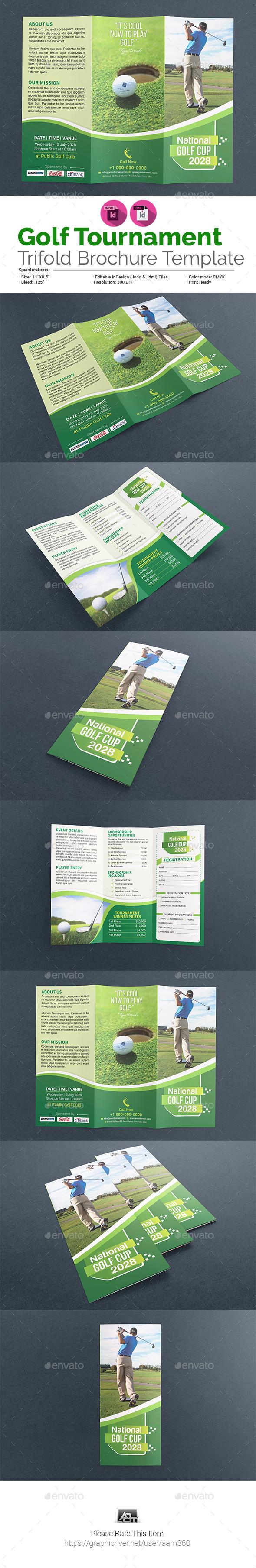 Golf Trifold Brochure - Informational Brochures