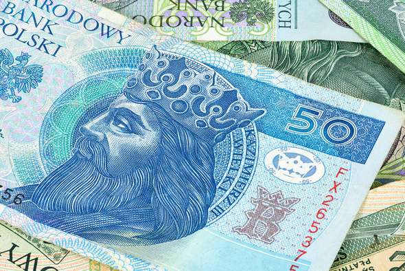 Closeup of 50 pln banknote - Stock Photo - Images
