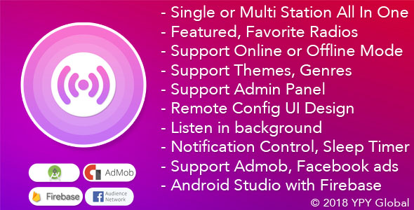 XRadio - Best Radio Template For Android - CodeCanyon Item for Sale