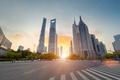 street scene of shanghai century boulevard in sunset - PhotoDune Item for Sale