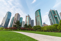 modern building with city park and footpath in shanghai - PhotoDune Item for Sale