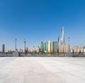 empty floor with shanghai skyline - PhotoDune Item for Sale