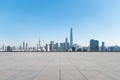 empty brick floor with modern metropolis cityscape in shanghai - PhotoDune Item for Sale