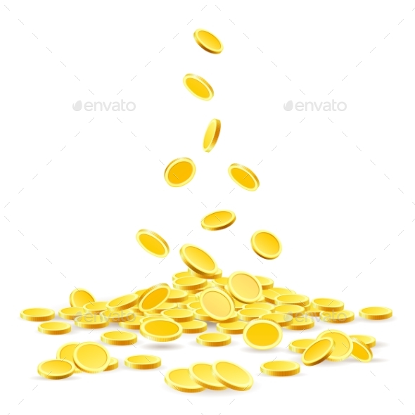 Gold Coins Heap - Backgrounds Business