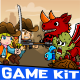 Cowboy vs Dragon Desert Theme Gamekit - GraphicRiver Item for Sale