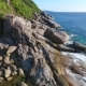 Beautiful Island Landscape. Huge Cliff Stones and Blue Water Waves at Similan Island.  - VideoHive Item for Sale