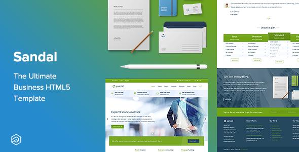 Sandal - Finance Consultancy Business Responsive HTML Template