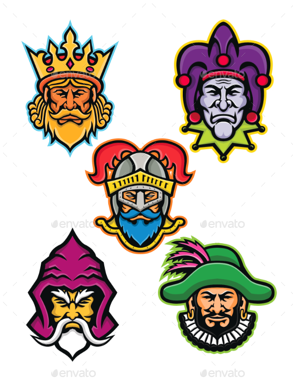 Medieval Royal Court Mascot Collection - People Characters