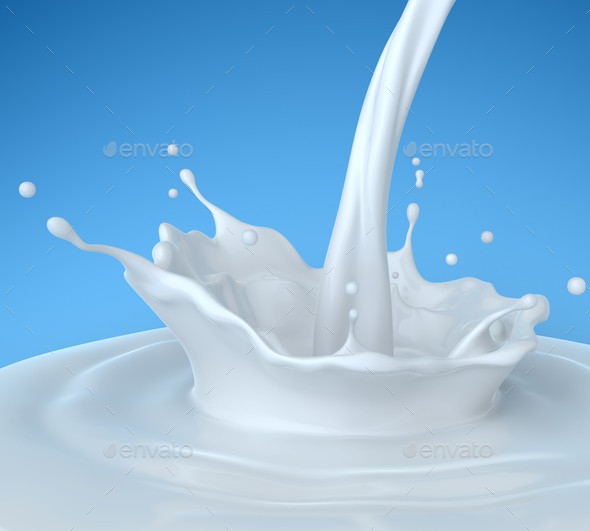 Pouring milk - Stock Photo - Images
