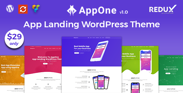 AppOne – App Landing WordPress Theme