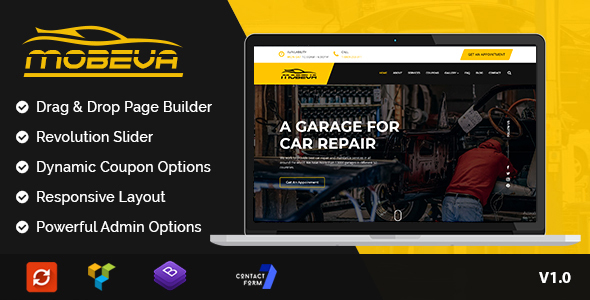 Mobeva - A Car Repair WordPress Theme