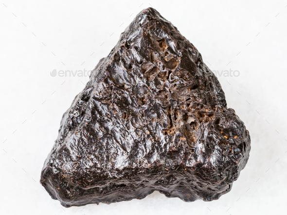 raw Hematite stone on white - Stock Photo - Images