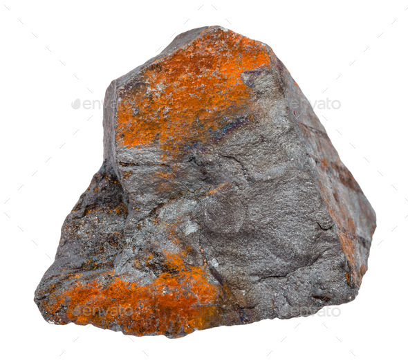rough Hematite ore isolated on white - Stock Photo - Images