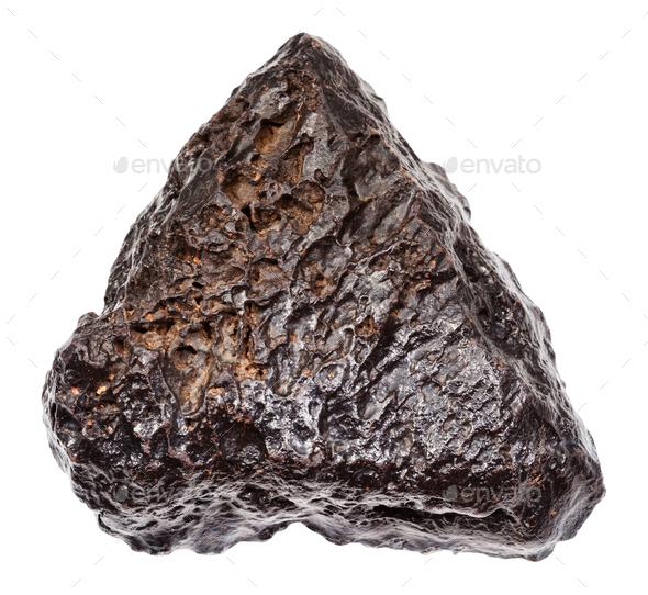 rough Hematite stone isolated on white - Stock Photo - Images