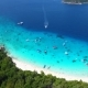 Popular Princess Beach and Blue Clear Water with Boats and Small Islands. Aerial  . Similan, Thailan - VideoHive Item for Sale