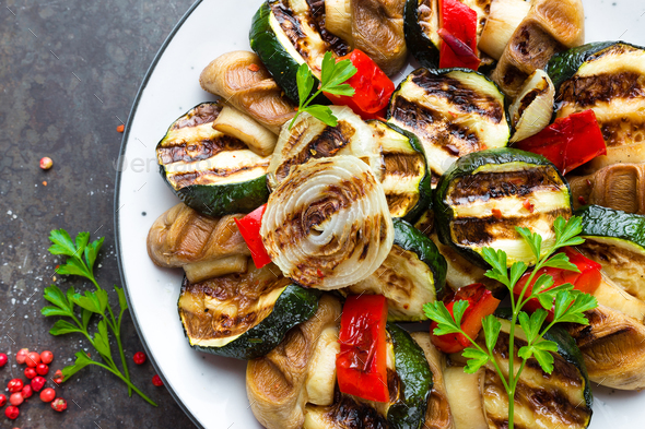 Salad with grilled vegetables - Stock Photo - Images