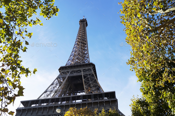Eiffel Tower in Paris - Stock Photo - Images