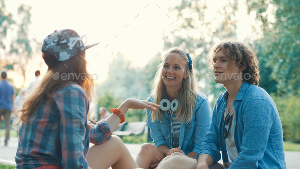 Young friends on vacation - Stock Photo - Images
