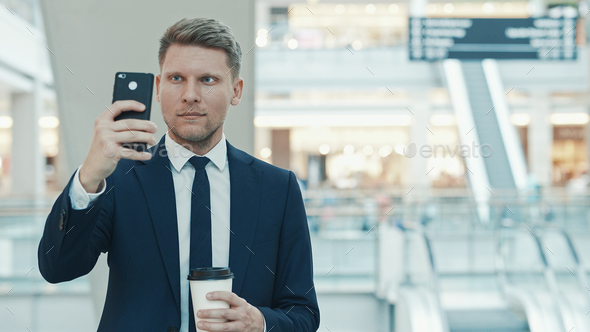 Young businessman in the store - Stock Photo - Images