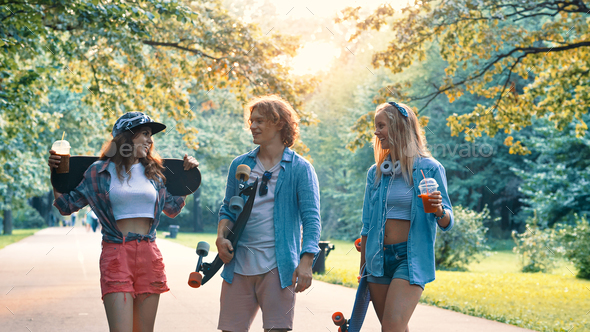 Young friends in summer - Stock Photo - Images