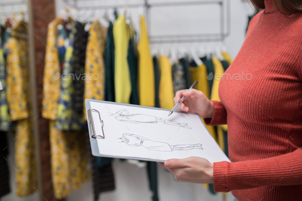 Young girl at work - Stock Photo - Images