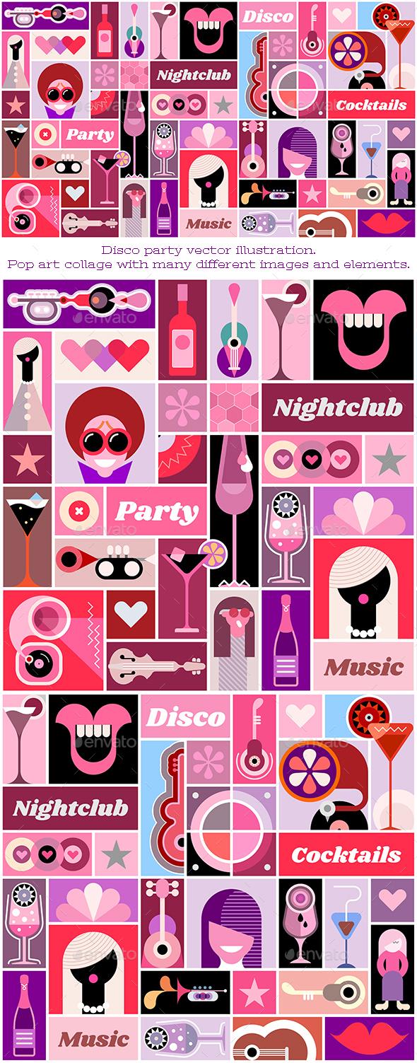 Disco Party - Abstract Conceptual