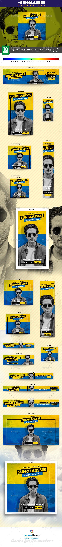 Sunglasses Banner - Banners & Ads Web Elements