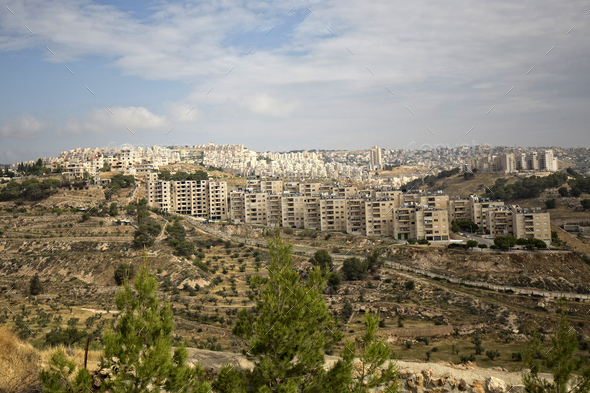 Jerusalem - view of the city  - Stock Photo - Images