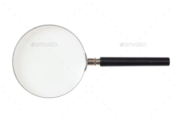 Magnifier isolated on white background. 3d illustration - Stock Photo - Images
