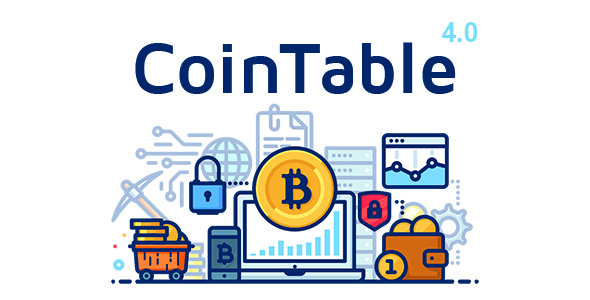 Coin Table - Cryptocurrency Markets, ICOs & Mining CMS - CodeCanyon Item for Sale