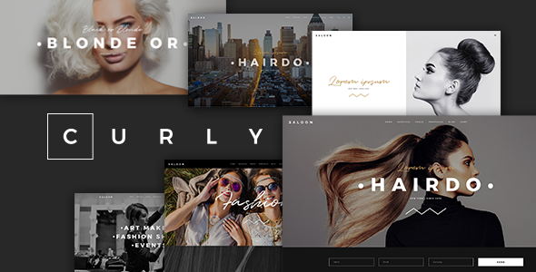 Image of Curly - A Stylish Theme for Hairdressers and Hair Salons
