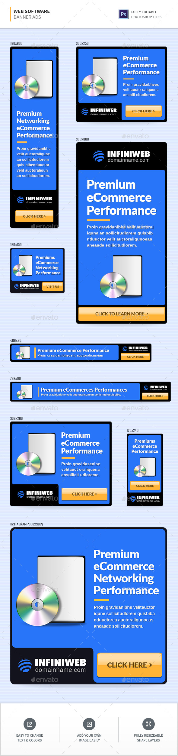 Web Software Banners - Banners & Ads Web Elements