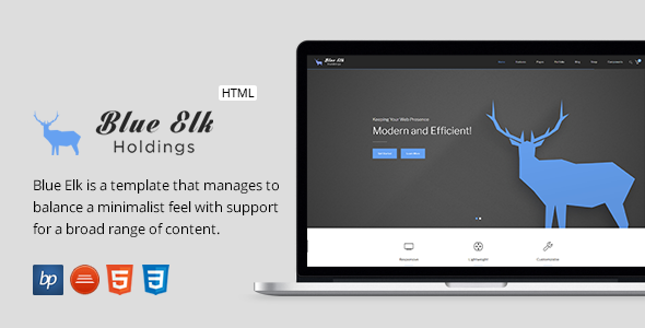 Blue Elk - Responsive Business HTML5 Template