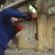 A Boxer Trains in an Abandoned Building - VideoHive Item for Sale