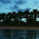 Palm Island at Dusk - VideoHive Item for Sale