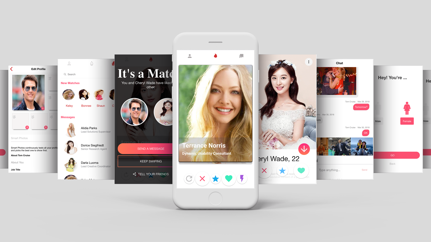 Tinder Like Dating Theme App Template UI Ionic Framework