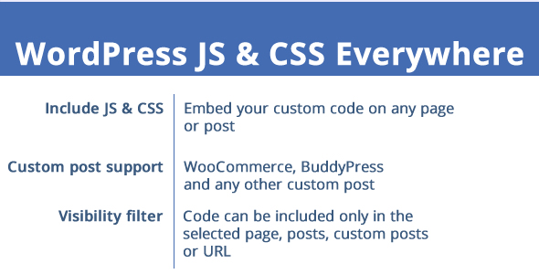 WordPress JS & CSS Everywhere! - CodeCanyon Item for Sale