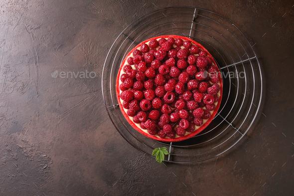 Raspberry lemon tart - Stock Photo - Images