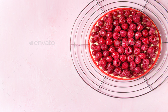 Raspberry lemon tart - Stock Photo - Images