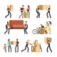 Family Moving Into New House. - GraphicRiver Item for Sale