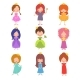 Kids Fashion Show Characters. Little Princesses - GraphicRiver Item for Sale