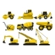 Flat Vector Set of Construction Equipment