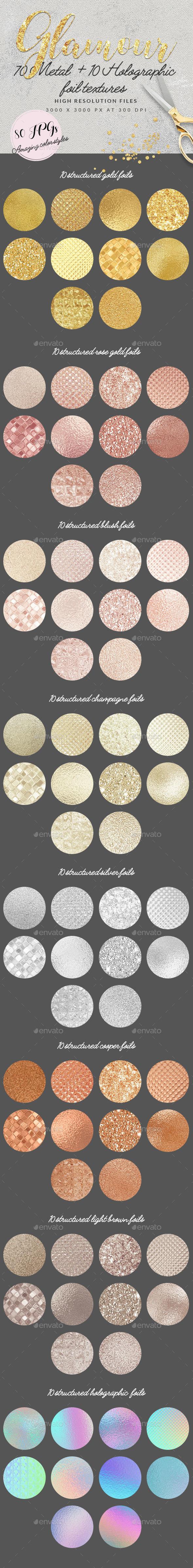 Metal & Holographic Foil Textures - Textures