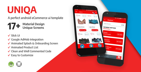 UNIQA E-Commerce: An Android Application Template  for Your Business            Nulled