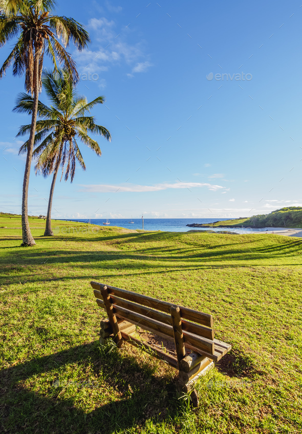 Landscape of Easter Island, Chile - Stock Photo - Images