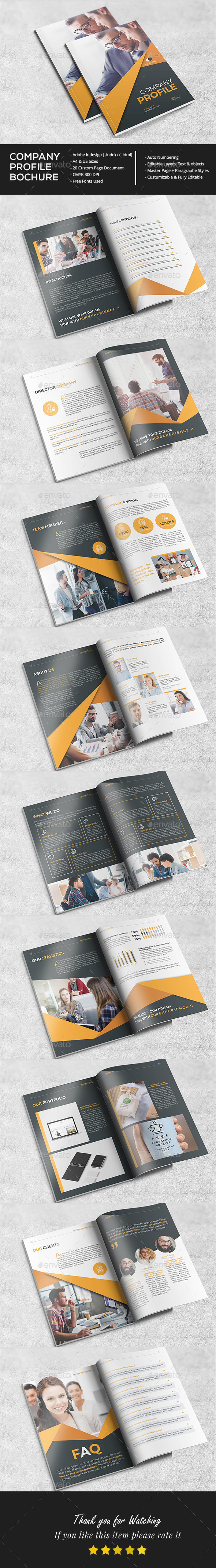 Stylish Company Profile - Brochures Print Templates