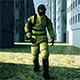 Man in Protective Hazmat Walking in a Deserted City - VideoHive Item for Sale