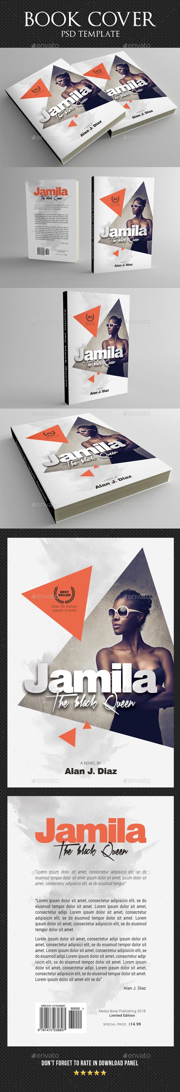 Book Cover Template 49 - Miscellaneous Print Templates